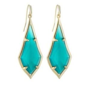 Kendra Scott Olivia Drop Earrings, Emerald